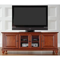 KF10005DCH Cherry Brown Low Profile 60 Inch TV Stand - Cambridge