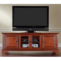 KF10005BCH Cherry 60 Inch Low Profile TV Stand - LaFayette
