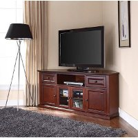 CF1000260-MA Mahogany 60 Inch Corner TV Stand - Cambridge