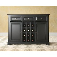 KF42001ABK Black Wine Buffet Server - Alexandria