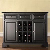 KF42001BBK Black Wine Buffet Server - LaFayette