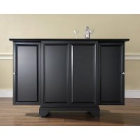 KF40001BBK Black Expandable Bar Cabinet - LaFayette