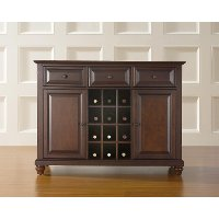 Cambridge mahogany wine buffet server rc willey for Home decor furniture cambridge oh