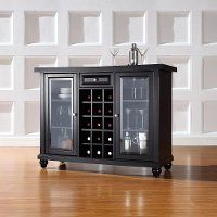 KF40002DBK Black Sliding Top Bar Cabinet - Cambridge