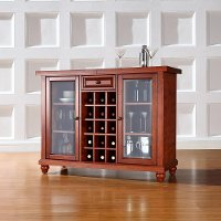 KF40002DCH Cherry Sliding Top Bar Cabinet - Cambridge