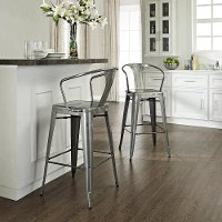 CF500730-GA Galvanized Metal Cafe Bar Stool - Ameilia