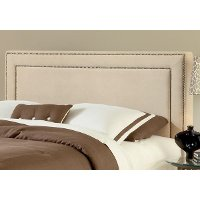 1566HQRA Buckwheat Tan Queen Size Headboard - Amber