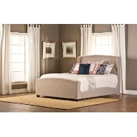 1262BQR Khaki Wingback Queen Upholstered Bed - Barrington