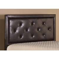 1292HTWRB Brown Contemporary Upholstered Twin Headboard - Becker