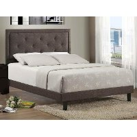 1296BQRB Dark Heather Upholstered Queen Size Bed - Becker