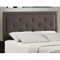1296HTWRB Dark Heather Upholstered Twin Headboard - Becker