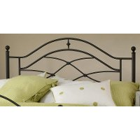 1601HTWR Black Twin Metal Headboard - Cole