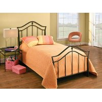 1546BTWR Black Classic Metal Twin Bed - Imperial