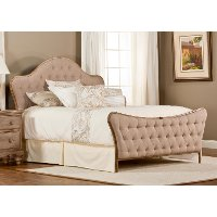 1206BQR Traditional Oatmeal Queen Upholstered Bed - Jefferson