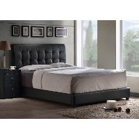 Black Upholstered King Platform Bed Lusso Rc Willey Furniture Store