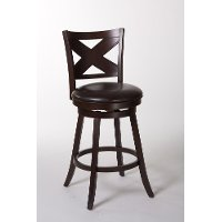 5209-830 Cherry Swivel Barstool - Ashbrooke