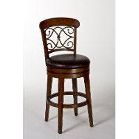 4299-830s Medium Brown Cherry Swivel Bar Stool - Bergamo