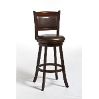 4472-830 Brown Vinyl Swivel Bar Stool - Dennery