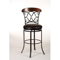 5026-830 Dark Coffee Finish Swivel Bar Stool - Dundee