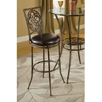 5435-830 Black/ Gray Swivel Bar Stool - Marsala