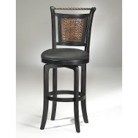 4935-830s Copper Metal Back/ Black Wood Frame Swivel Bar Stool - Norwood