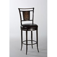 5247-826 Black and Copper Swivel Counter Height Stool - Parkside