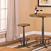 5441-829 Dark Silver Hammer Swivel Counter Stool - Rivage