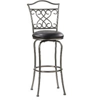 4127-831 Dark Pewter Swivel Bar Stool - Wayland