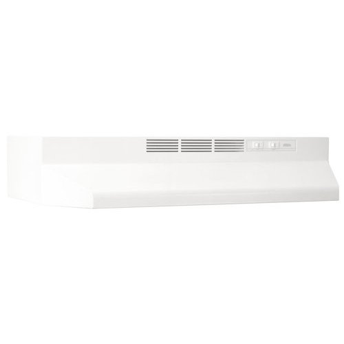413001 Broan 30 Inch Non-ducted Under Cabinet Hood - White