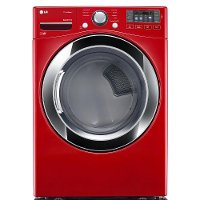 DLEX3370R LG Electric Dryer with NFC Tag-on - 7.4 cu. ft. Red