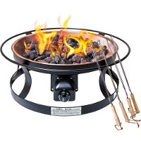 FP29LG Del Rio Gas Fire Pit with Cover - Fire Pit