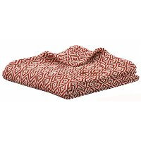 Red and Cream Diamond Throw