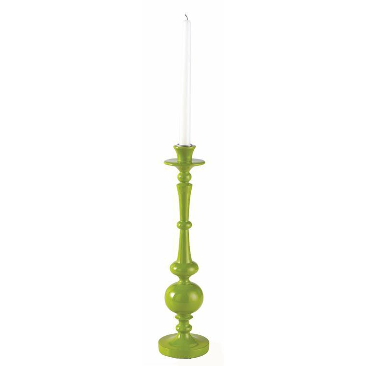 Citron Green 15 Inch Taper Candle Holder