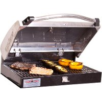 BB90LS Stainless Steel BBQ Grill Box for Three-Burner Stove
