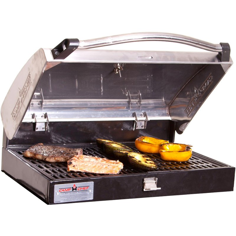 Stainless Steel BBQ Grill Box for Three-Burner Stove