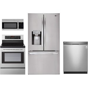 appliance package200996    lg ss 4pc ele 3dr lg 4 piece electric kitchen package   kitchen appliance packages   rc willey furniture store  rh   rcwilley com