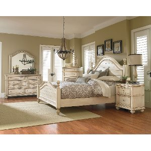 furniture bedroom set.  Antique White 6 Piece Queen Bedroom Set Heritage sets bedroom furniture set RC Willey