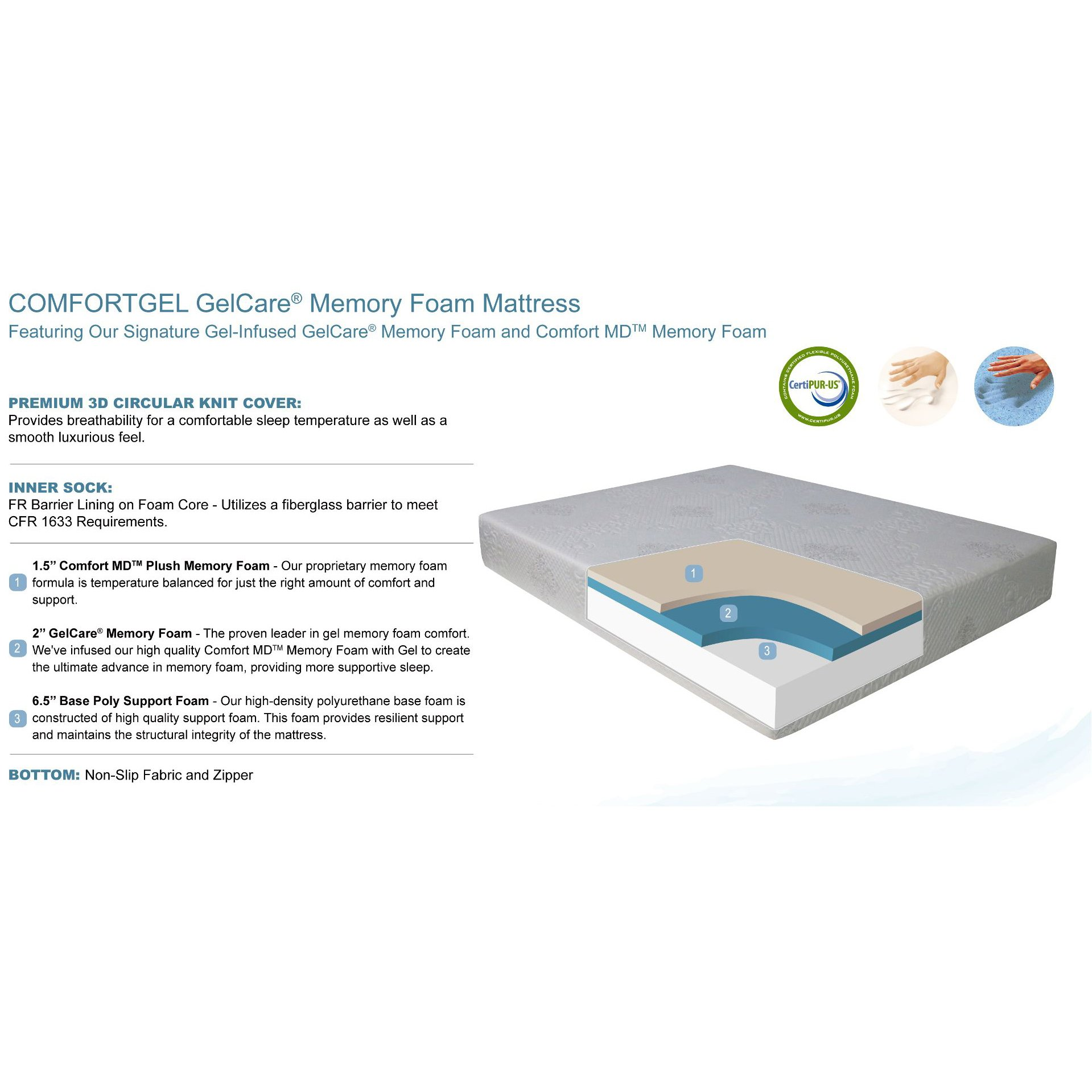 queen 10 inch comfort gel memory foam mattress rc willey furniture store