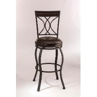 5670-826 Traditional 26 Inch Swivel Counter Height Stool - Kirkham