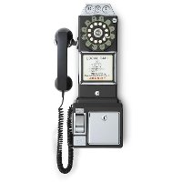CR56-BK Black1950'S Replica Payphone