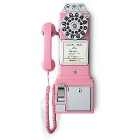CR56-PI Pink 1950'S Replica Payphone