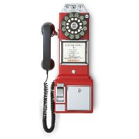 CR56-RE Red 1950'S Replica Payphone