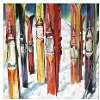 Alpine Multi Color Skis Canvas Wall Art