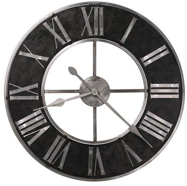 ... Industrial Style Black U0026 Steel Wall Clock ...