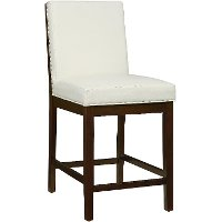 Couture White 24 Quot Counter Stool Rc Willey Furniture Store