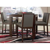 Couture Chocolate & Gray 5-Piece Counter-Height Dining Set
