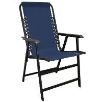 80012000022BLUECHR Blue Suspension Folding Chair