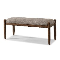 Southern Pines Antique Umber Upholstered Bench Rc Willey Furniture Store