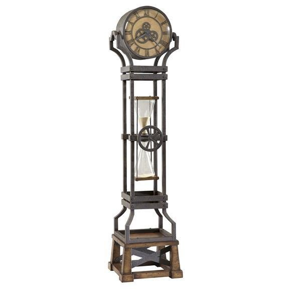 Hourglass Iron Floor Clock