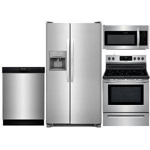 SS 4PC ELE KITPKG Frigidaire 4 Piece Electric Kitchen Appliance Package    Stainless ...